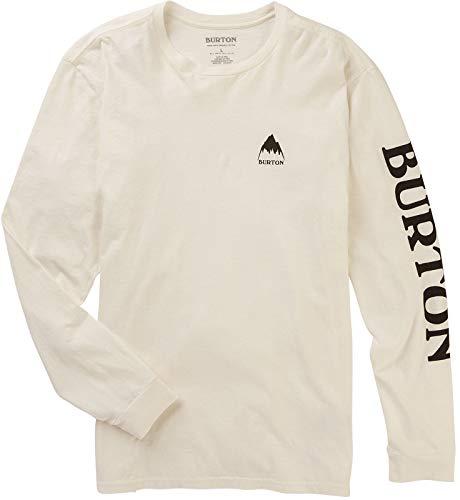 Burton Men's Elite Long Sleeve Tee, Stout White W20, Large