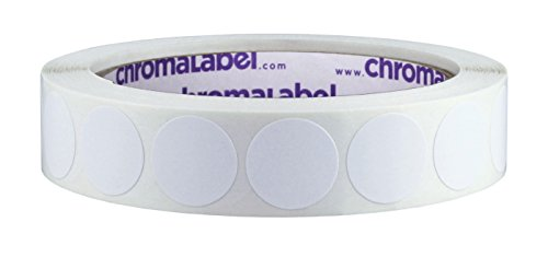 ChromaLabel 3/4 inch Removable Color-Code Dot Labels | 1,000/Roll (White)