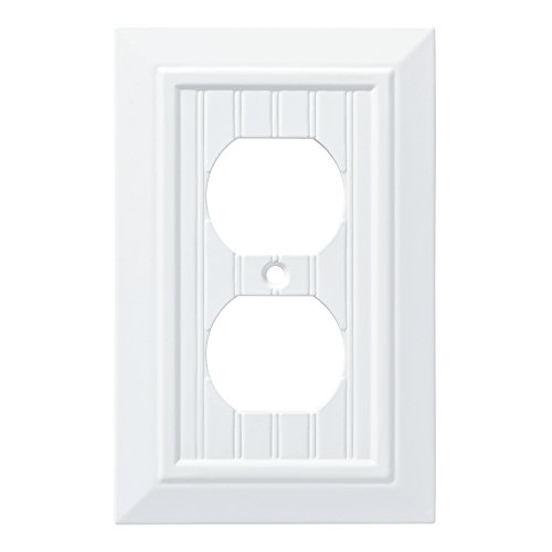 - Franklin Brass W35266-PW-C Classic Beadboard Single Duplex Wall Plate/Switch Plate /N163:N192 Cover, Pure White