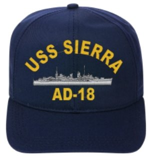 USS SIERRA AD-18 BALL CAP..EMBROIDERED -