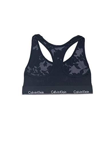 Calvin Klein Women's Modern Cotton Bralette, Floral Burnout Blue, ()