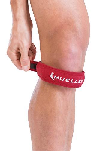 Mueller Jumper's Knee Strap, Red, One Size Fits Most | Single Strap Knee Brace