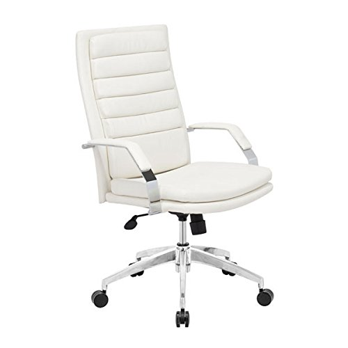 Zuo Modern 205327 Director Comfort Office Chair, White Director Leatherette Office Chair