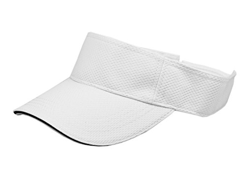 RufnTop Mesh Visor Sport Headband Athletic Sportswear Runing & Outdoor Activities for Unisex (White One Size)