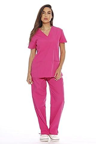 22252V-L Hot Pink Just Love Women's Scrub Sets / Medical Scrubs / Nursing Scrubs - Hot Pink Scrub Pants