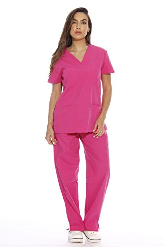 Just Love 22252V-L Hot Pink Women