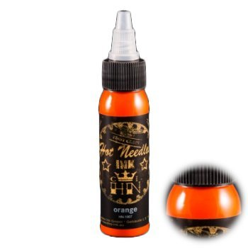 Orange - 30 ml - Hot Needles Ink (Tattoofarbe Tattoo Ink Colour Artist Made in Germany)