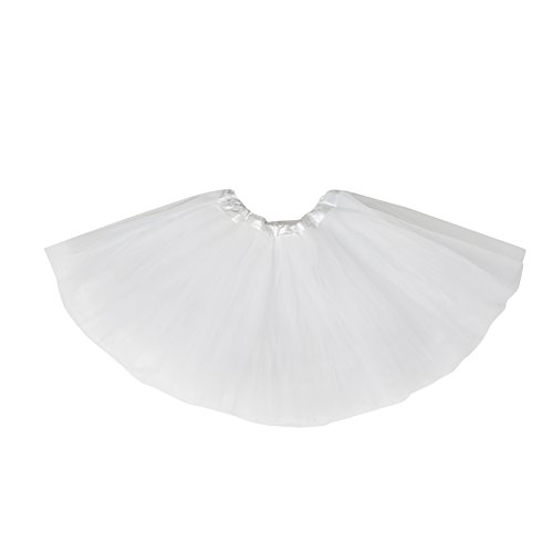 (belababy Girl Skirts 3 Layers Organza Baby Tutu, white, Fits size 2-8 )