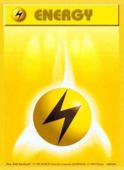 Pokemon - Lightning Energy (100/102) - Base Set