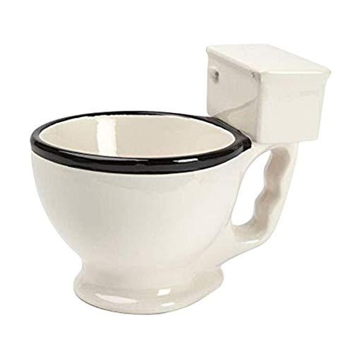 LXLWAN Novelty Toilet Ceramic Mug with Handle 300ml Coffee Tea Milk Ice Cream Cup Funny for -