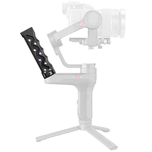 Aluminum 1//4 Inch Handle Grip with Cold Shoe Mount for Zhiyun Weebill Lab Gimbal Handgrip Universal Portable DSLR Camera Handle