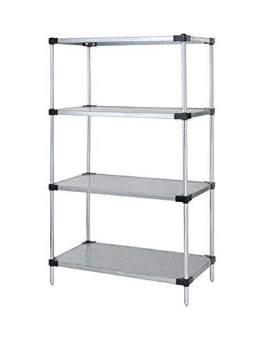 - Quantum Solid Shelving 4-Shelf Starter Units Storage Rack Galvanized Steel 24