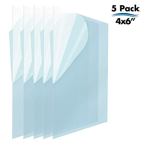 Icona Bay PET Replacement for Picture Frame Glass (4 x 6, 5 Pack) PET is Ideal Replacement Glass Material, Avoid Glass Shattering, Your Superior Replacement Picture Frame Glass Has Arrived