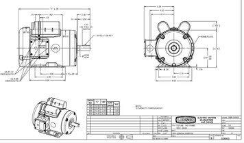 31gqJnJZQqL 3 hp 3450 rpm 145t frame tefc 230 volts leeson electric motor