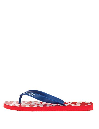 Franklin & Marshall Men's Man's Flip Flops In Red Color 100% Cotton COMETS RED