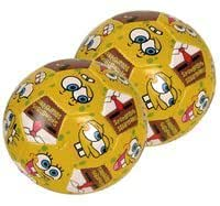 Spongebob Squarepants Soccer ball - 4in Spongebob soft vinyl ball (2pcs)