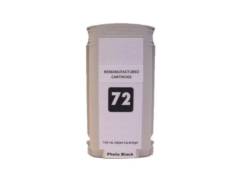 InkOwl - Remanufactured Ink Cartridge Replacement for HP 72 (Photo Black) 130ml C9370A - USA-made ink - for DesignJet T610, T620, T770, T790, T1100, T1120, T1200, T1300, (130ml Photo Black Ink Cartridge)