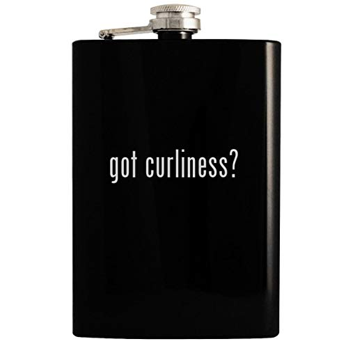 got curliness? - Black 8oz Hip Drinking Alcohol Flask (Best Haircuts For Indian Men)
