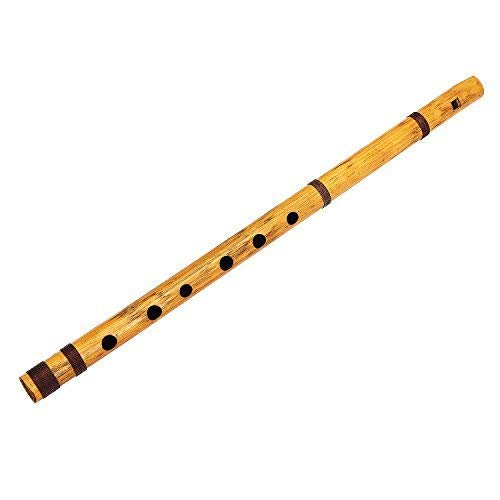 Unique Birthday Gift Ideas 17 Inch Authentic Indian Wooden Bamboo Flute in 'G' Key Fipple Woodwind Musical Instrument Recorder Traditional Bansuri Hand Crafted Novelty Gifts Men Women Kids