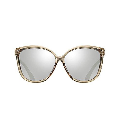 DT de Gafas Gafas Marea Cara Retro Sol Redonda 5 Moda 5 Señoras Color Caja Sol de Femenina HnHBrq5