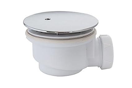 AsinoX 72607 Válvula Desagüe Ducha, Blanco