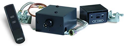 SkyTech Manual On/Off Gas Valve Kit On/Off/Hi/Med/Lo Remote (AF-LMF-RVS) (Light Pilot Light On Fireplace Gas)