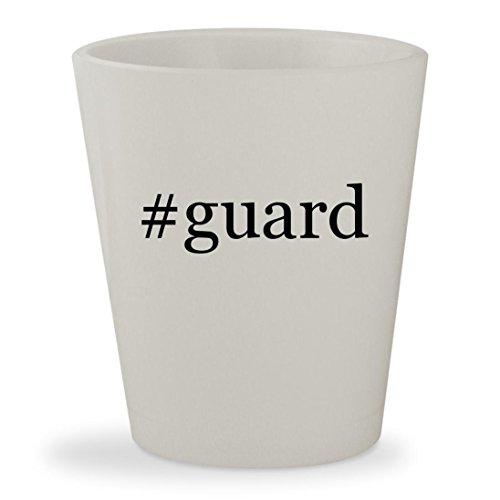 #guard - White Hashtag Ceramic 1.5oz Shot Glass