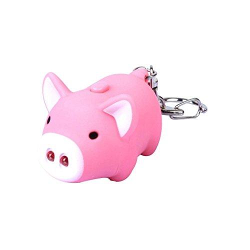 Trenton Cute Pig LED Light Sound Key Chain Keyring Bag Pendant Car Decoration Gift