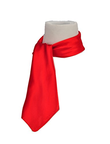 Square Scarf Head Neck Multiuse Solid Colors Available (Red 2) ()