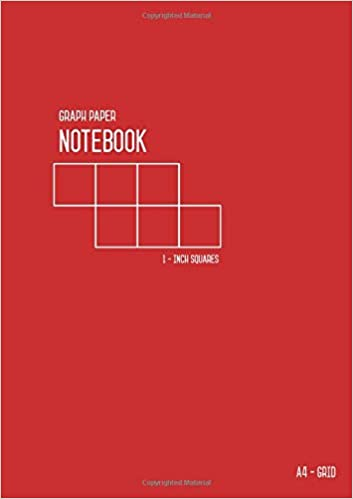 graph paper notebook a4 1 inch squares large grids red smart