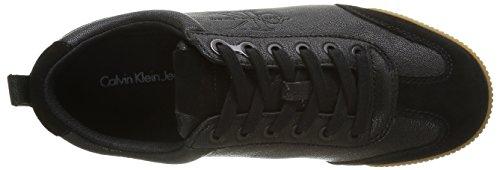 Calvin Klein Wyatt Suede/Oily Tumbled Goat, Zapatillas para Hombre Negro (Blk)
