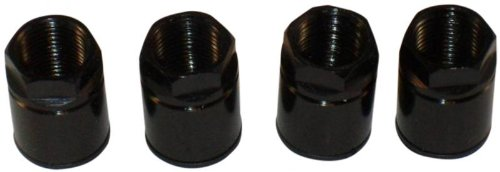 Muzzys 10001 - Universal Black TPMS Sensor Air Valve Stem Mounting Nut - Set of ()