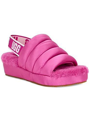 UGG Women's Puff Yeah Wedge Sandal, Fuchsia, 10 M US