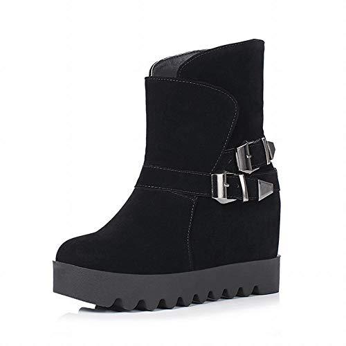 De Épaisses Wsr Noir chaussures Femmes D'hiver Et Femmes Plates L'ascenseur Chaudes D'automne Neige Femmes Bottes Pour Courtes Mattes 1ZqwrP1