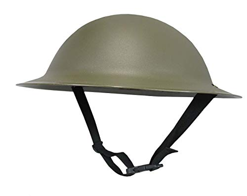 Nicky Bigs Novelties Adult Ally Army Helmet Costume, Olive Drab Green, One Size -