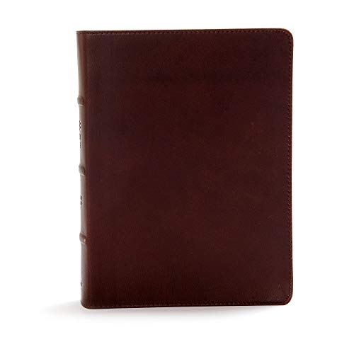 - CSB Study Bible, Brown Genuine Leather, Indexed