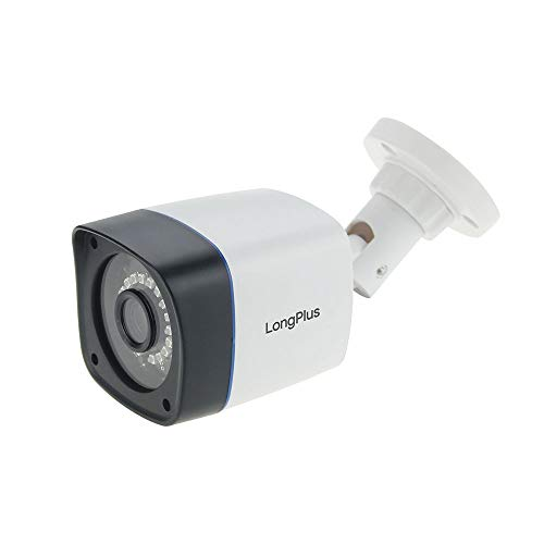 LongPlus HD-TVI 1080P 2MP 4-in-1 CCTV Home Surveillance IP66 Weatherproof IR Cut Bullet Security Camera, White (LPHDC2MBP)