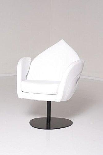 Brühl Sessel Einzelsessel DIVE Leder Weiß