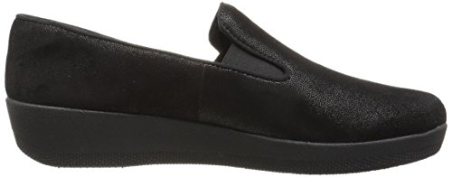Fitflop Womens Superskate Mocassino Piatto Tutto Nero