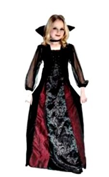 [Goth Maiden Vampiress Kids Costume] (Gothic Maiden Costumes)