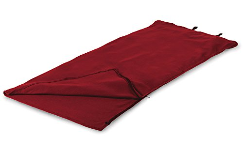 Stansport Fleece Sleeping Bag, Red, 32