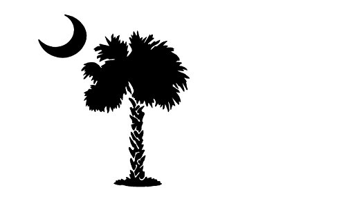 South Carolina Palmetto Sticker for window tail gate etc... in color - Gate South Stores