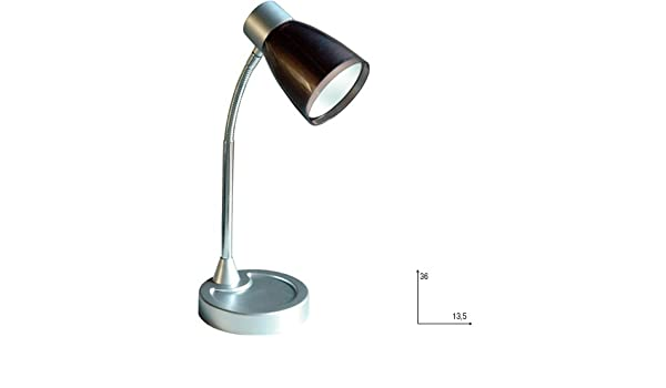 Fan Europe lámpara de mesa con tulipa E14, 40 W, Negro, 36 x 13.5 ...