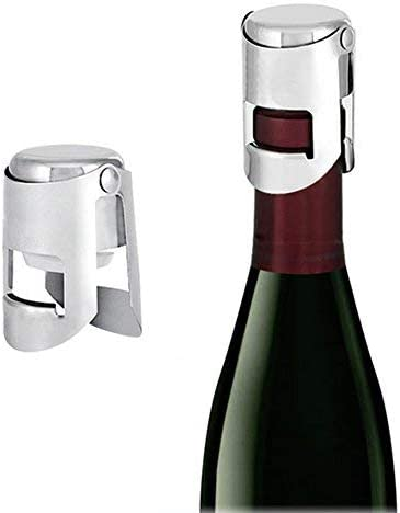 acero inoxidable Pack de 2 unidades. Tap/ón para botellas de Champagne de alta calidad s/úper sellado