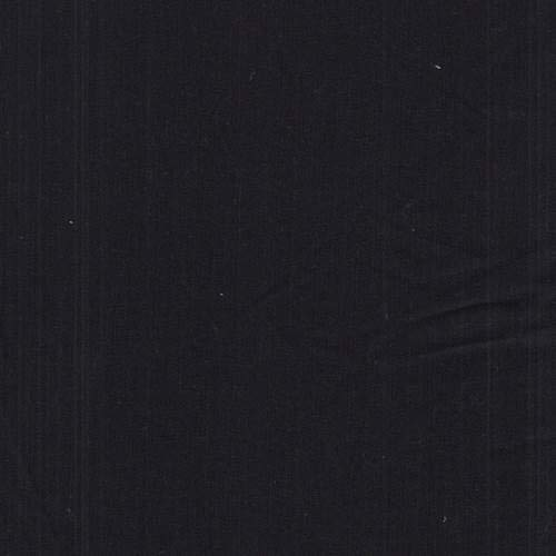 Jet Black Pinstripe Wool Blend Suiting, Fabric by The Yard -