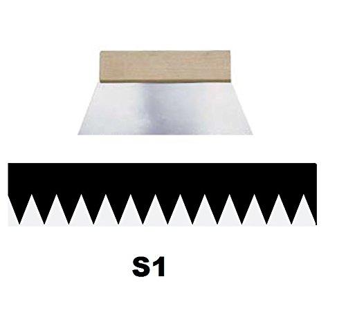 Leim Klebstoff Zahnspachtel Bodenleger Normalstahl S1 0.2x1.8mm gezahnt 180mm Riethmüller