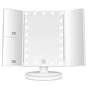 Best Epic Trends 31gqbeMROjL._SS300_ BESTOPE Makeup Mirror with Lights 21 Led Light Up Mirror with 2X/3X Magnification Vanity Mirror with Lights Touch Screen…