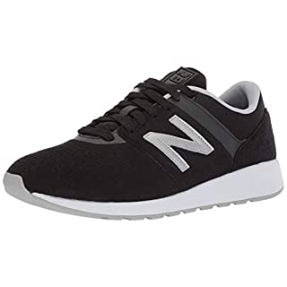 New Balance Men's 24 V1 Sneaker, Black/Silver Mink, 7.5 4E US