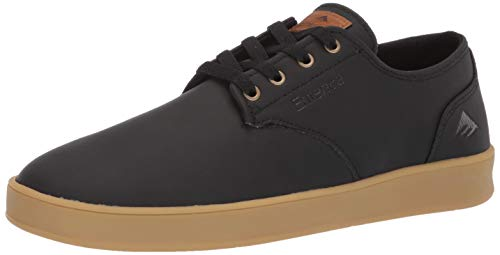 Emerica Men's The Romero Laced Skate Shoe, Black/Gold, 12.0 Medium US