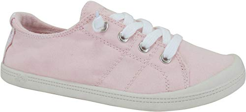 Jellypop Dallas Womens Slip On Sneakers Light Pink Canvas 9